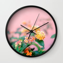 Colorful floral vibes   Botanical fine art photography from Lisbon Portugal Wall Clock