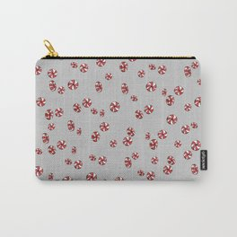 Peppermint Candy in Grey Carry-All Pouch