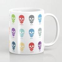 pantone Mugs featuring Pantone Skulls by James Northcote