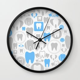 Tooth a background Wall Clock