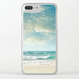 beach love tropical island paradise Clear iPhone Case