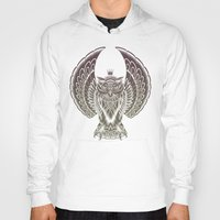 silent Hoodies featuring Silent Flight (Owl Wings) by Rachel Caldwell