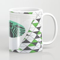 starbucks Mugs featuring Starbucks Mermaid  by Clawson Creatives