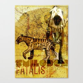 Smilodon fatalis Canvas Print