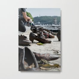 Shoes on Danube Bank, Budapest Metal Print