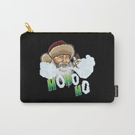Vaping Santa Claus Blows Clouds Under Xmas Tree Carry-All Pouch