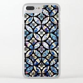 Floral Lattice Pattern II Clear iPhone Case