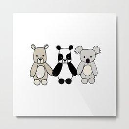 Bear Friends Metal Print