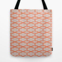 Orange Bubbles Tote Bag