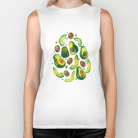 avocado Biker Tanks featuring Avocado Avocado by LiLaiRa