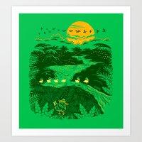 apocalypse now Art Prints featuring Apocalypse Now : Reducks by Matt Wasser