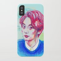 shinee iPhone & iPod Cases featuring SHINee Minho by sophillustration
