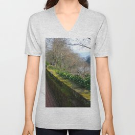 Road By The River Dee Unisex V-Neck