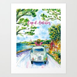 Ready for holidays in Cap d'Antibes ? Art Print
