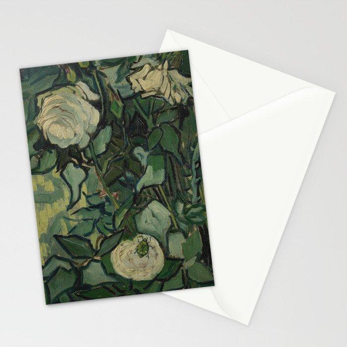 "Vincent Van Gogh ""Roses"" Stationery Cards"