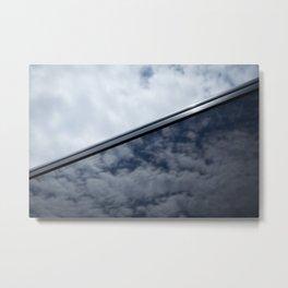 Sky reflection in car window Metal Print