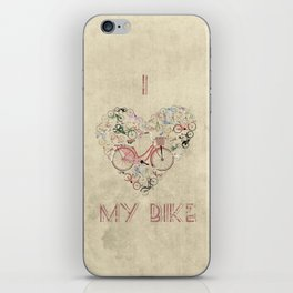 I Love My Bike iPhone Skin