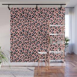Leopard Print - Icy Peach Wall Mural
