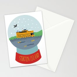 Staten Island Ferry, Snow globe, souvenir, new york city, nyc Stationery Cards