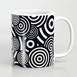 BLACK AND WHITE BULLSEYE ABSTRACT Coffee Mug
