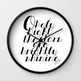 O Holy Night Wall Clock