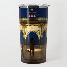 Brighton Bandstand at Night Travel Mug