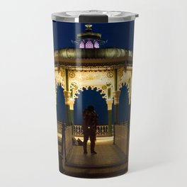 Brighton Bandstand at Night Travel Mug