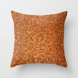 Bright Rose Pink Gold Glitter Throw Pillow