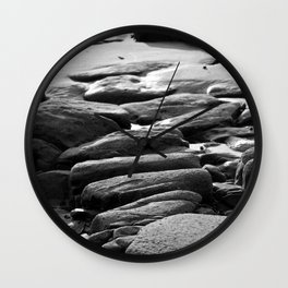 Rocks and Pools Wall Clock