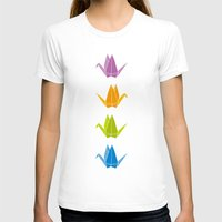 origami T-shirts featuring ORIGAMI by taichi_k