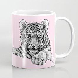 Amur tiger cub - pink Coffee Mug