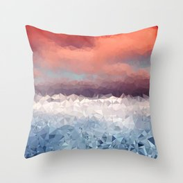 Fragments of a Sunset Throw Pillow