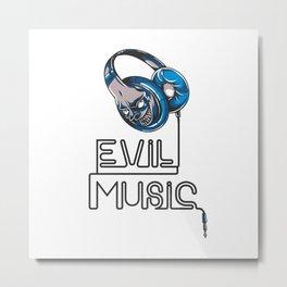 Evil Music Metal Print