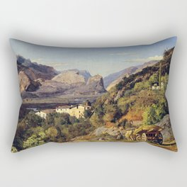 Ferdinand Georg Waldmüller Mountains of Arco at Riva Rectangular Pillow