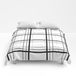 Checkered black and white classic pattern Comforters