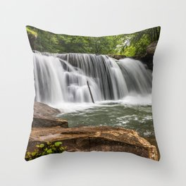 Mill Creek Falls, Ansted, West Virginia Throw Pillow