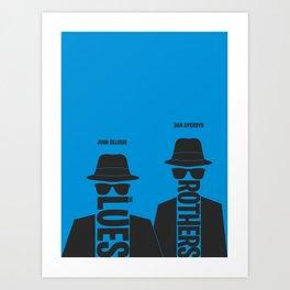 The Blues Brothers minimalist poster Art Print