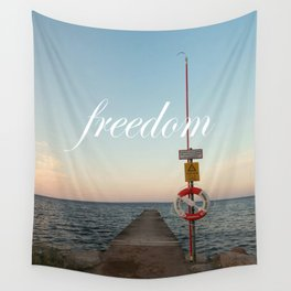 Freedom (with words) Wall Tapestry