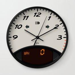 Sportscar Tachometer Clock Wall Clock