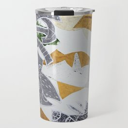 Tropical Toile Travel Mug