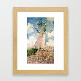 Claude Monet's Woman with a Parasol, Study Framed Art Print