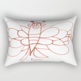 Lady Butterfly Rectangular Pillow