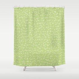 Chaff pattern - lemon Shower Curtain