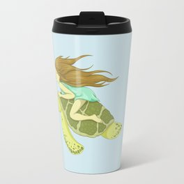 The Girl and the Turtle Travel Mug