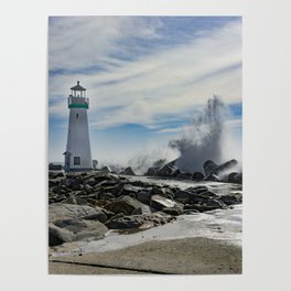 Walton Lighthouse Santa Cruz California Photography Poster
