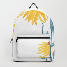 three yellow flowers Backpack