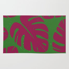 Monstera Leaf Print 4 Rug