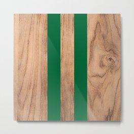 Wood Grain Stripes - Green #319 Metal Print