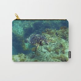 Watercolor Turtle, Hawksbill Turtle 07, St John, USVI Carry-All Pouch