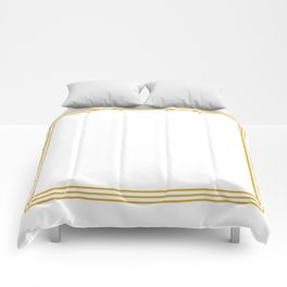 Triple Line in Golden Yellow on White Comforters